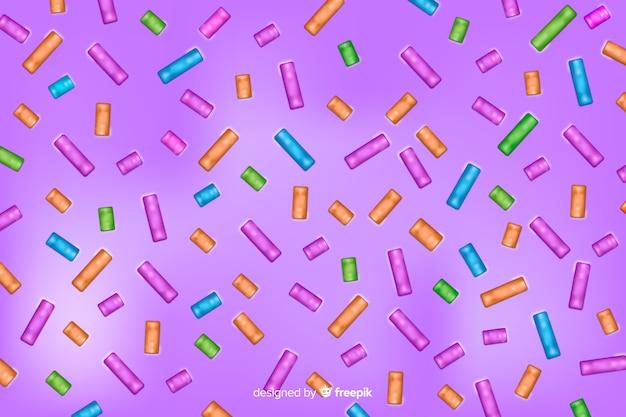 Achtergrond van de doughnut de violette smaakvolle glans Gratis Vector