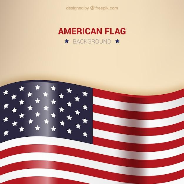 Achtergrond van glanzende verenigde staten vlag Gratis Vector