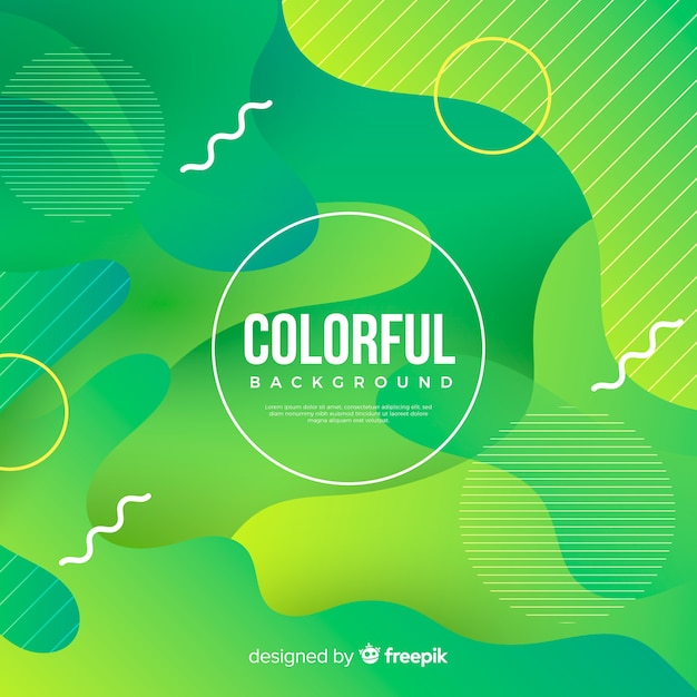 Achtergrond van gradiënt de kleurrijke vloeibare vormen Gratis Vector