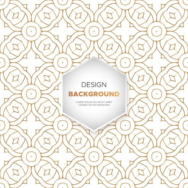 Achtergrond van het luxe mandalaontwerp in gouden kleur Gratis Vector