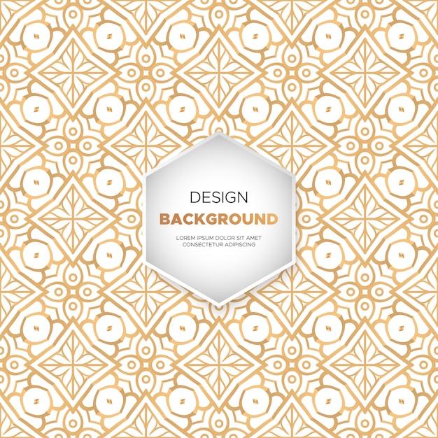 Achtergrond van het luxe mandalaontwerp in gouden kleurenvector Gratis Vector