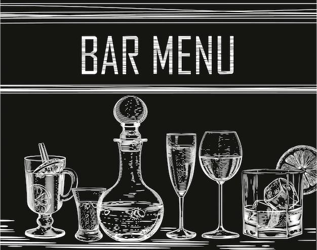 Achtergrond voor alcoholische producten Premium Vector