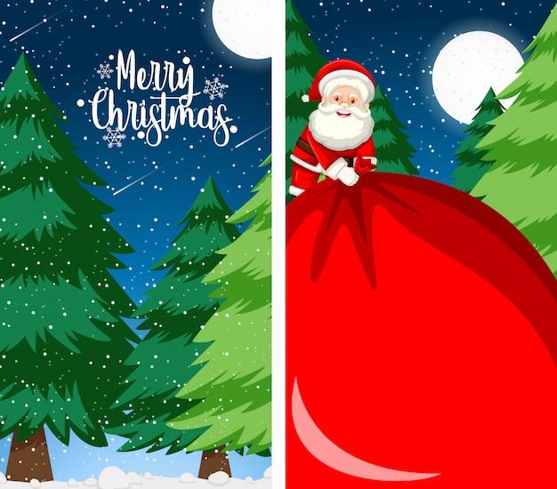 Achtergrond voor de vrolijke kaart van de kerstmisgroet Gratis Vector