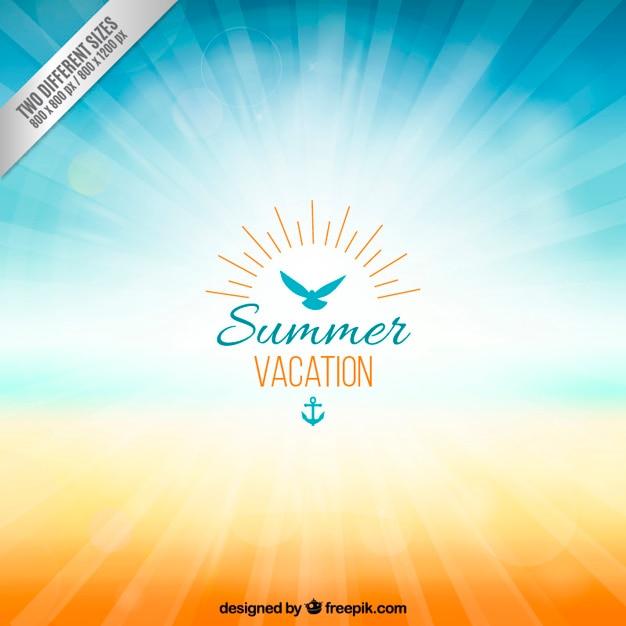 Achtergrond voor de zomervakantie Gratis Vector