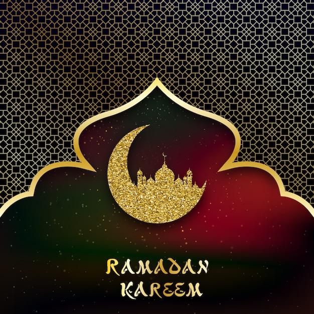 Achtergrond voor groeten ramadan kareem. Premium Vector