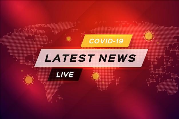 Achtergrond voor het laatste nieuws over coronavirus Premium Vector