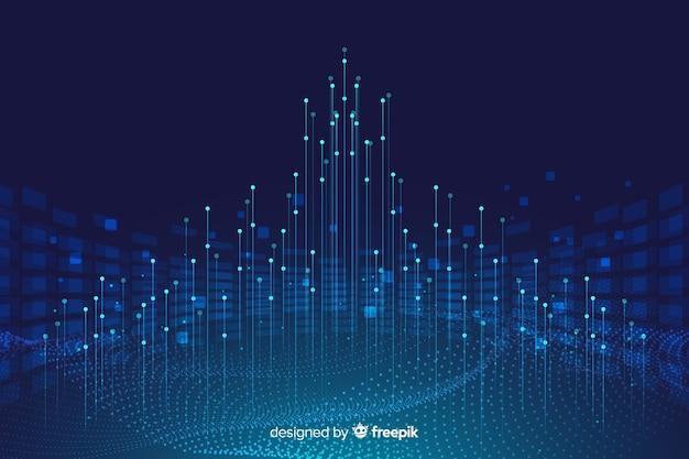 Achtergrondconcept met abstract gegevensontwerp Gratis Vector