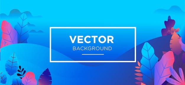Achtergrondillustratie trendy vlakke stijl Premium Vector