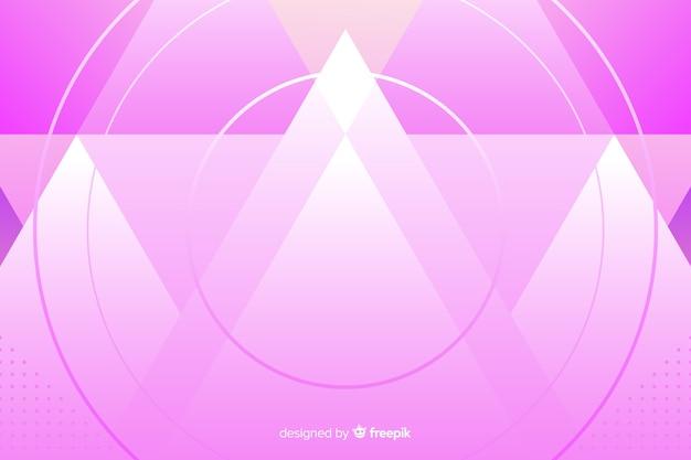 Achtergrondmalplaatje met abstracte roze montains Gratis Vector