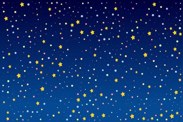 Achtergrondontwerp met heldere sterren Gratis Vector