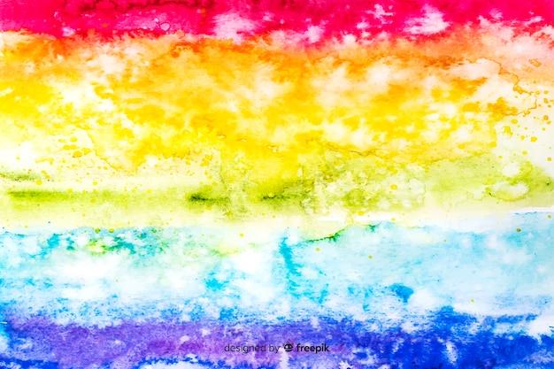 Achtergrondregenboog in tie-dye-stijl Gratis Vector