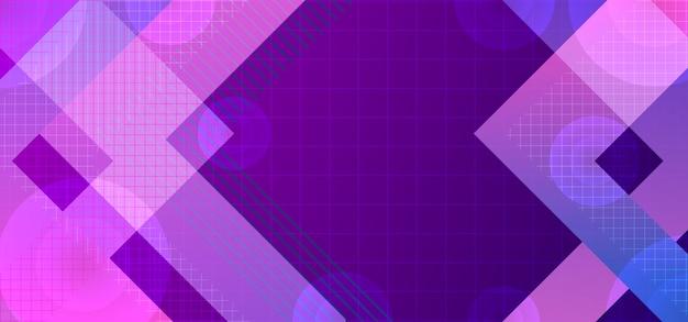 Achtergrondsamenvatting met het neonlicht en de cirkel van de strepenlijn Premium Vector