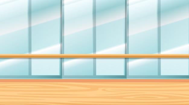 Achtergrondscène van ruimte met vensters Gratis Vector