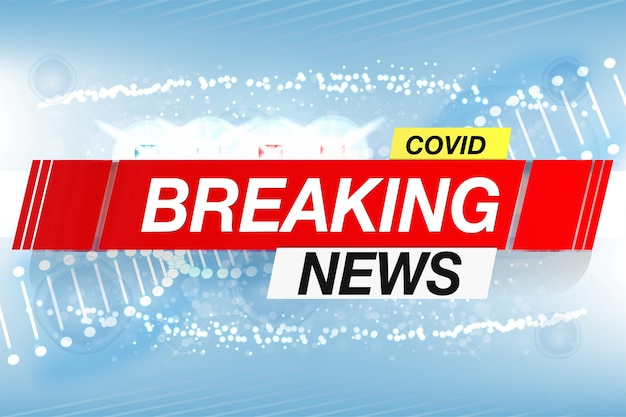Achtergrondschermbeveiliging op breaking news covid Premium Vector