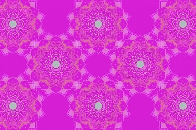 Achtergrondsjabloon met mandala-ontwerpen Gratis Vector