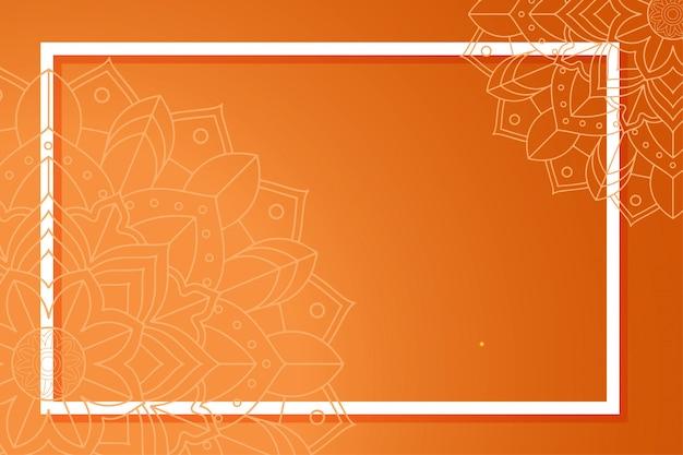 Achtergrondsjabloon met mandala-patronen Gratis Vector