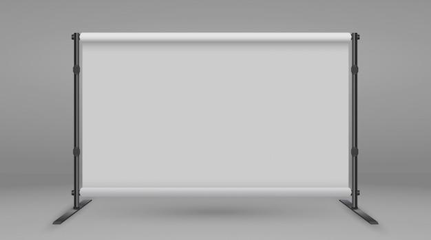 Achtergrondstandaard voor banners. witte lege reclame perswand Premium Vector