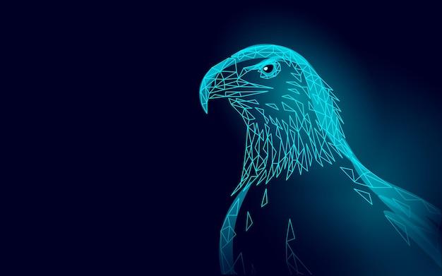 Adelaar zittend vogel profiel. amerikaans nationaal symbool. Premium Vector