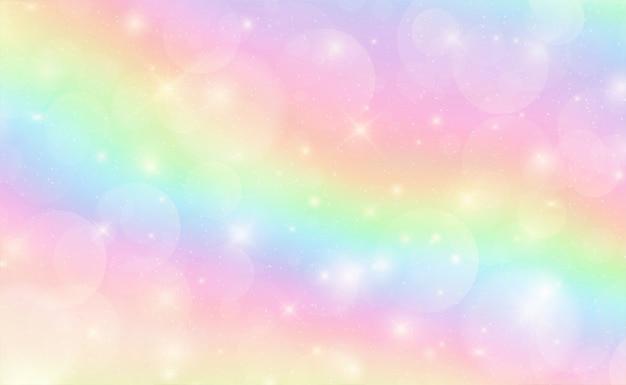 Adembenemende hemel in pastelkleur Premium Vector