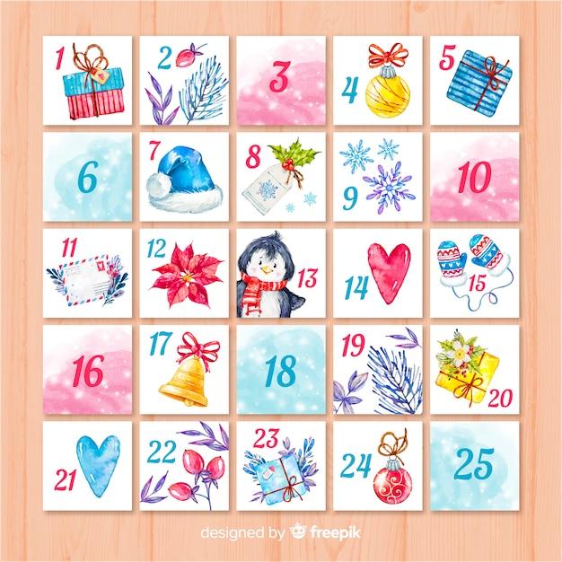 Advent kalender Gratis Vector