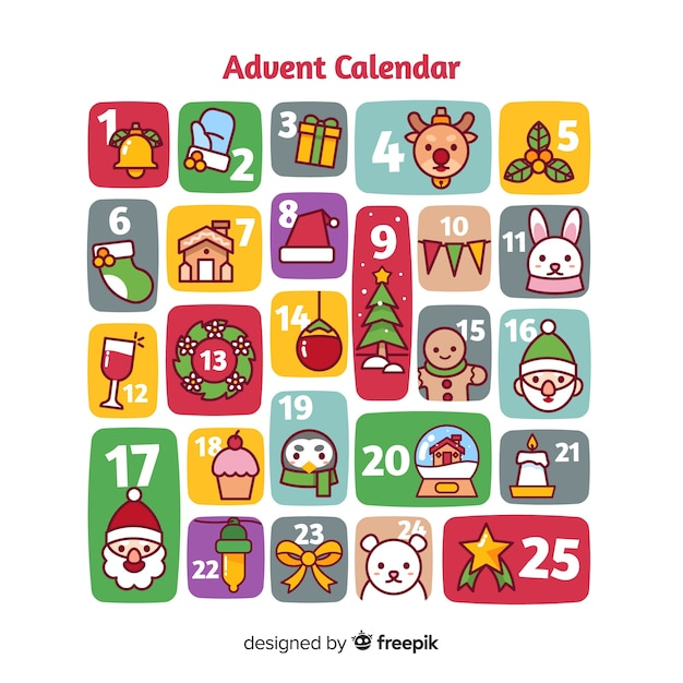 Advent kalender Gratis Vector