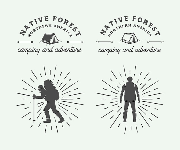 Adventure-logo's Premium Vector