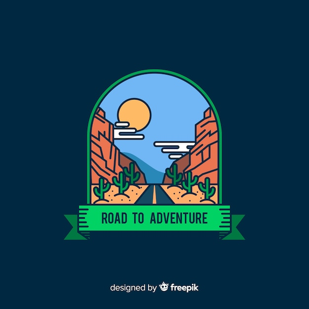 Adventure-logo Gratis Vector