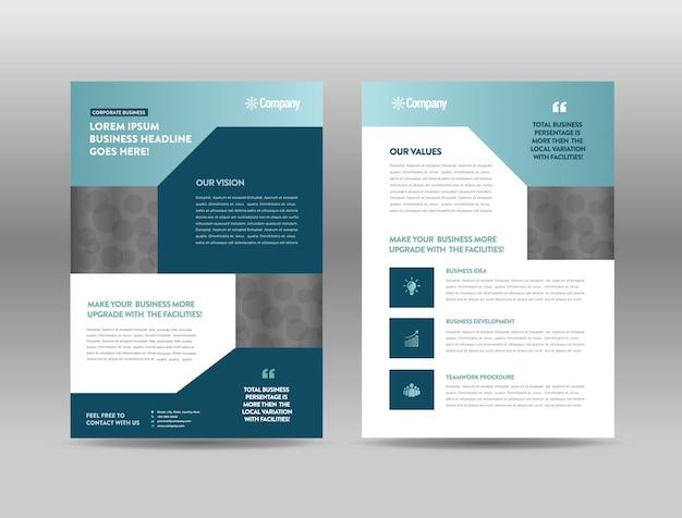 Advertentie brochure sjabloon Premium Vector