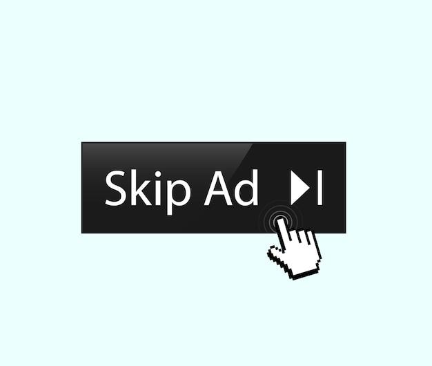 Advertentie overslaan Premium Vector