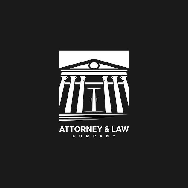 Advocaat en wetgeving logo-bedrijf Premium Vector