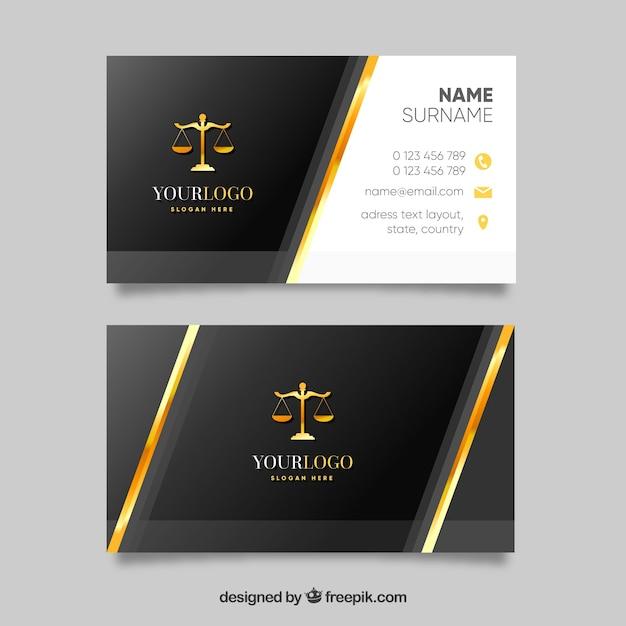 Advocaat kaartsjabloon Gratis Vector