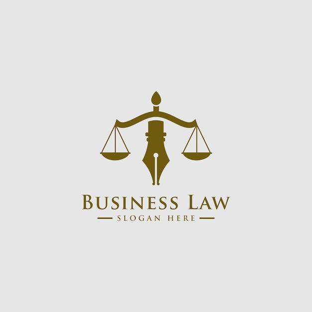 Advocatenkantoor, advocaten, luxe vintage crest-logo Premium Vector