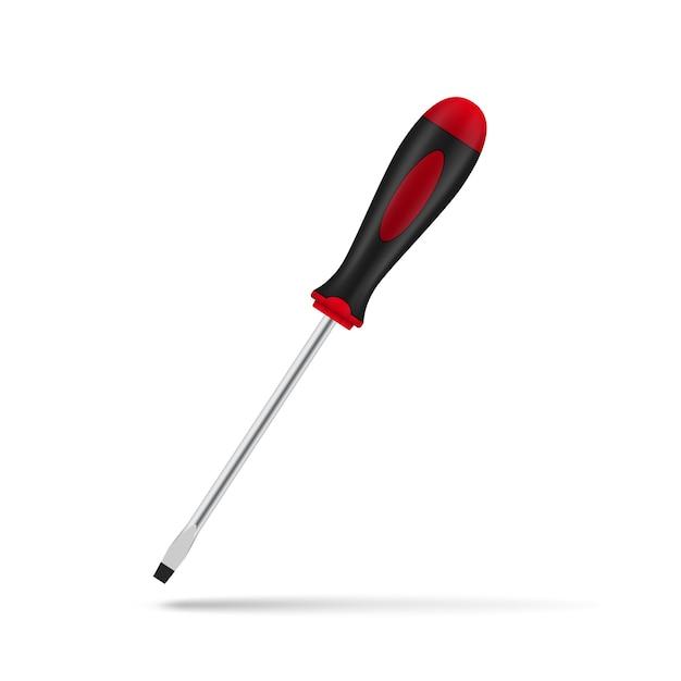 Afbeelding van draadloze schroevendraaier op witte achtergrond, illustratie Premium Vector