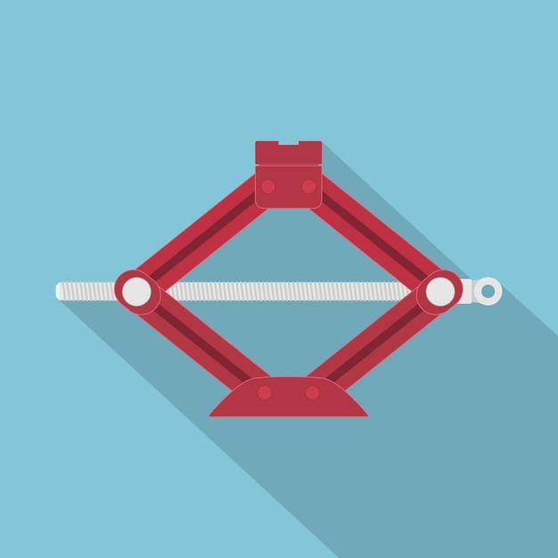 Afbeelding van een rode auto-aansluiting, stijlicoon Premium Vector