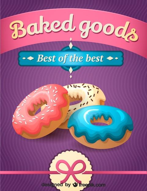 Afdrukbare donut ontwerp Gratis Vector