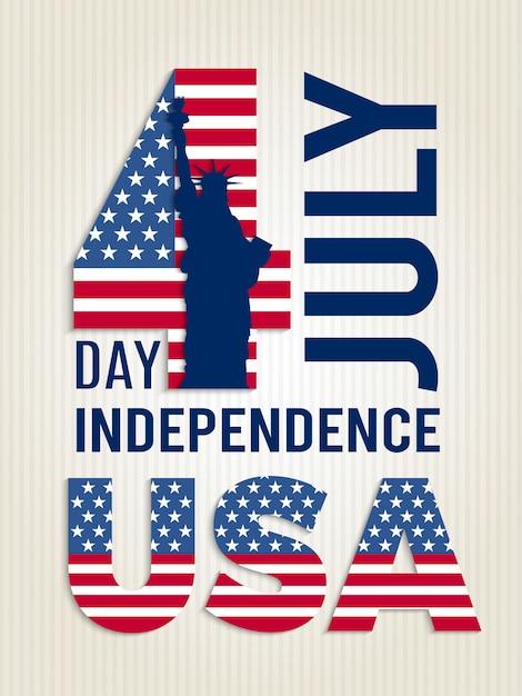 Affiche voor de onafhankelijkheidsdag van de vs Premium Vector