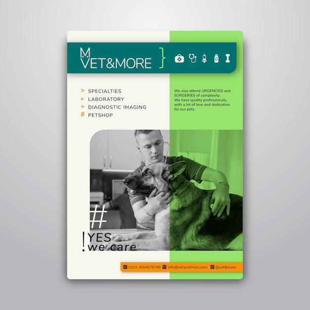 Affichemalplaatje voor veterinaire zaken Gratis Vector