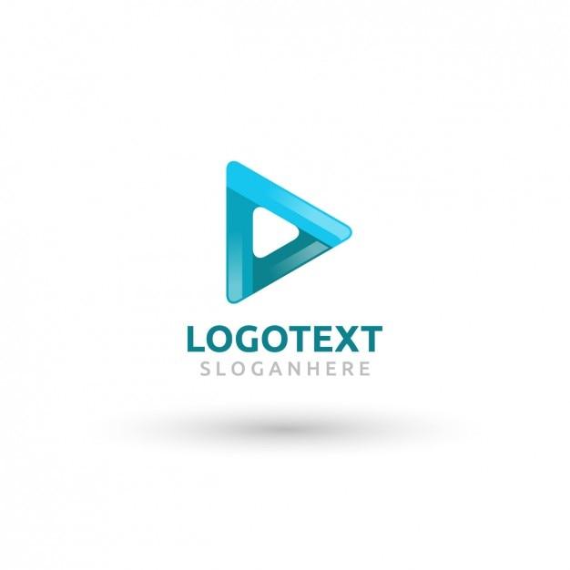 Afgeronde Driehoek Blauw Logo Vector Gratis Download
