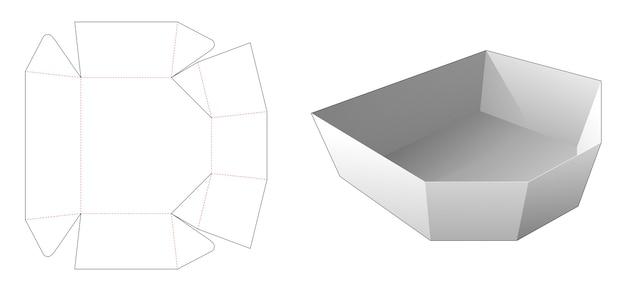 Afgeschuinde verpakking gestanst sjabloon Premium Vector