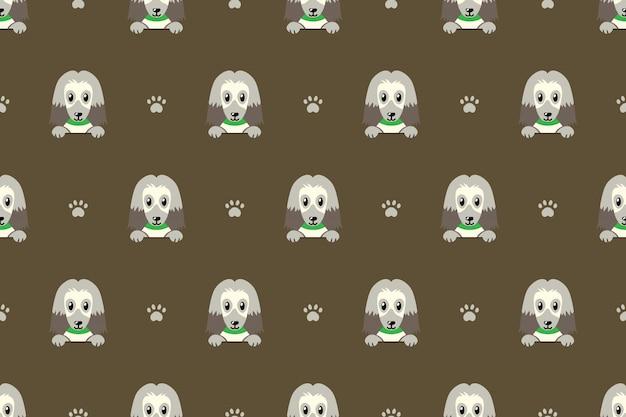 Afghaanse hond naadloze patroon achtergrond Premium Vector