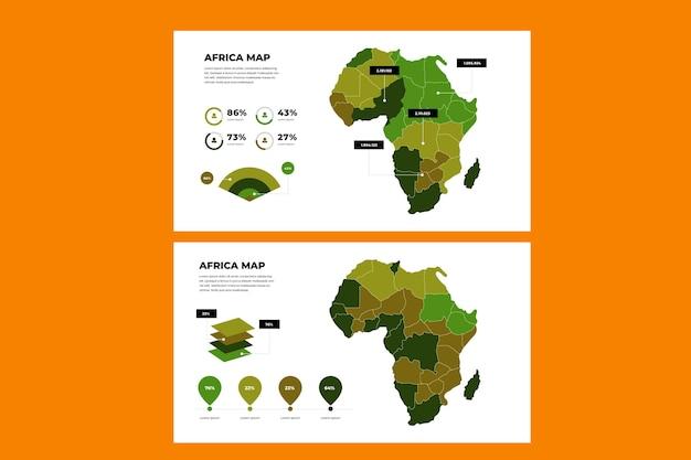Afrika kaart infographic in plat ontwerp Premium Vector