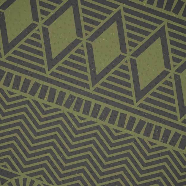 Afrikaans groen patroon Gratis Vector