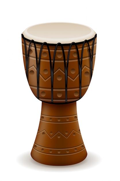 Afrikaanse drum muziekinstrumenten voorraad vectorillustratie Premium Vector