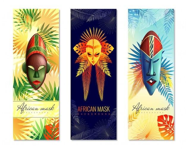 Afrikaanse feestelijke verticale banners Gratis Vector