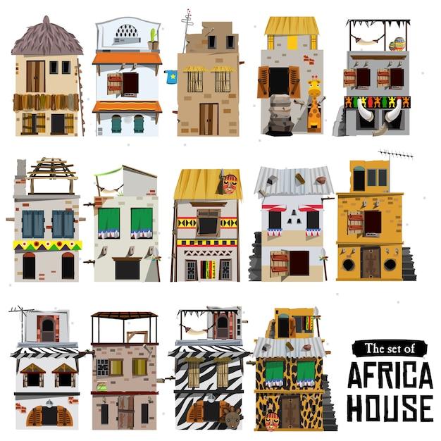 Afrikaanse huisstijl Premium Vector