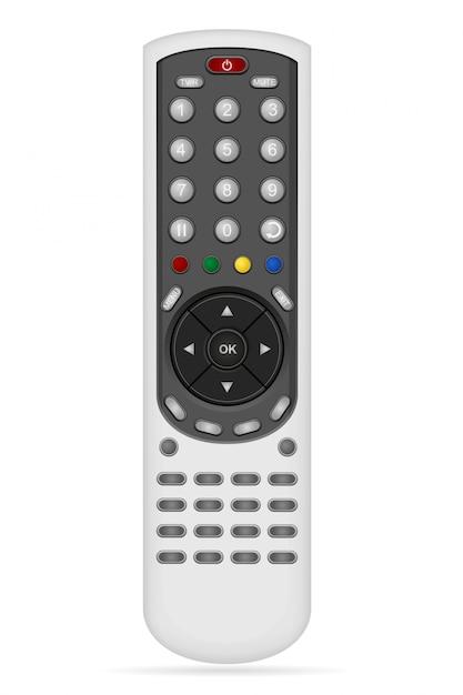 Afstandsbediening voor audio video-apparatuur vectorillustratie Premium Vector