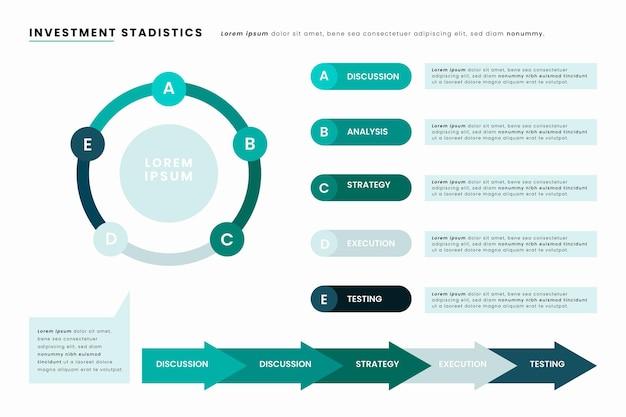 Agile infographic concept Gratis Vector