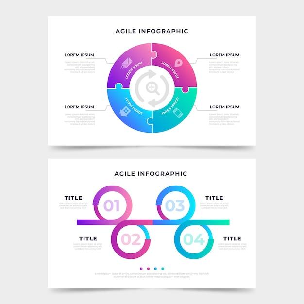 Agile infographic sjabloon Gratis Vector