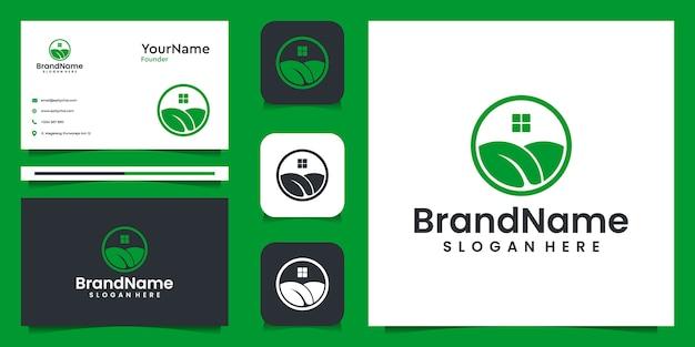 Agrarische illustratie grafisch logo ontwerp. geschikt voor natuur, spa, merk en thuis Premium Vector