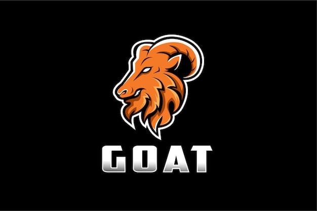 Agressief geit mascotte logo Premium Vector